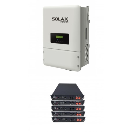 Set SOLAX X3 6KW + 5xPYLON 2,4 HV